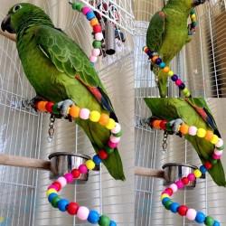 Trespolo a Spirale Giocattolo di Legno per Uccelli 100 cm