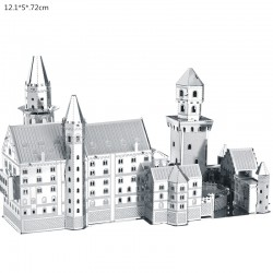 3D Neuschwanstein - metalowe puzzle - zestaw konstrukcyjny