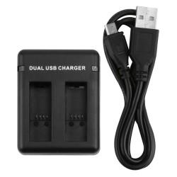 Podwójny Port Ładowarka Baterii Dla GoPro Hero 5 Kamera Z Kablem USB
