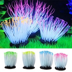 Aquarium Fish Tank Simulation Luminous Sea Anemone Plant
