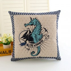 Printed anchor - rudder pillowcase - cushion cover - cotton case 45 * 45cm
