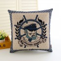 Printed Anchor Rudder Pillowcase Cushion Cover Case Cotton 45 * 45cm