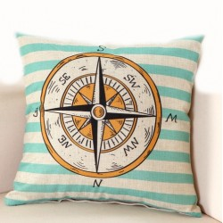 Ocean Pattern Pillowcase Cushion Cover Case 45 * 45cm