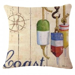 Vintage marine - pillowcase - cushion cover - cotton 45 * 45cm