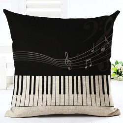 Muzyczne Nuty Poszewka Na Poduszkę Bawełniana 45 * 45cm