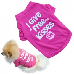 """I give free kisses"" - t-shirt for dogs / cats"