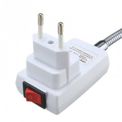 E27 Light lamp bulb holder with flexible extension - on/off switch