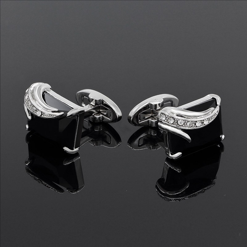 Crystal Design Men's Cufflinks