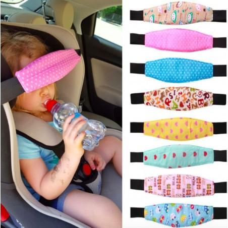 Pram Car Baby Head Sleep Positioner Fastening Belt Adjustable