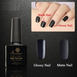 10ml Saviland Matt Black Top Coat Nail Art UV Gel Polish