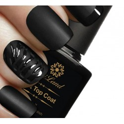 Esmalte top coat mat negro UV 10ml Saviland