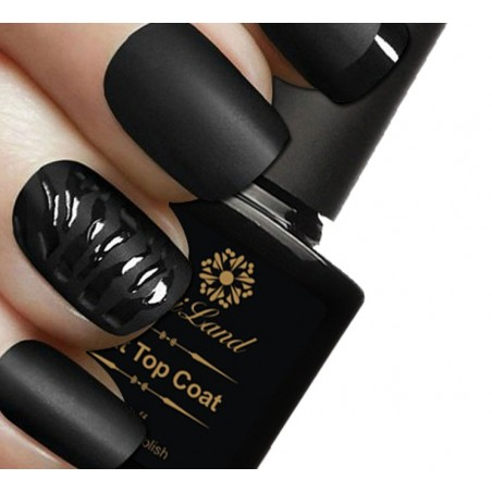 Smalto top coat mat nero UV 10ml Saviland