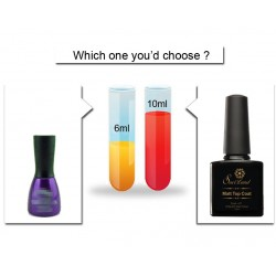 Vernis top coat mat noir UV 10ml Saviland