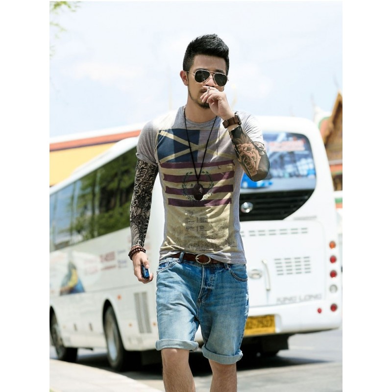 Men's Short Sleeve Round Neck T- shirt