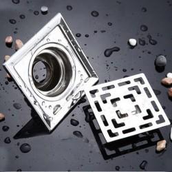 Filtre pour sol bain carrè d'acier inox 10cm
