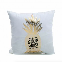 Gold Silver Letters Pillowcase Cushion Cover 45 * 45cm