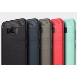 Samsung Galaxy S7 - S7 Edge - S8 -S8 Plus rubber carbon fiber brushed TPU beschermhoes cover