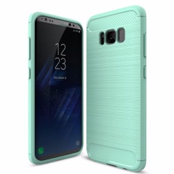 Samsung Galaxy S7 - S7 Edge - S8 -S8 Plus rubber carbon fiber brushed TPU beschermhoes cover
