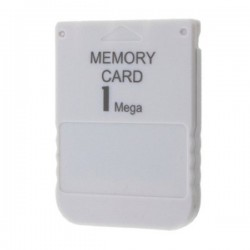 PS1 PSX Game System White 1MB Memory Card