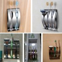 Stainless Steel Self-adhesive Wall Mount Toothbrush Holder