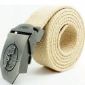 Men's Canvas Pistol Buckle Military Belt
