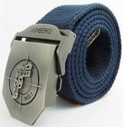 Heren Riem Militair Canvas Met Pistool |
