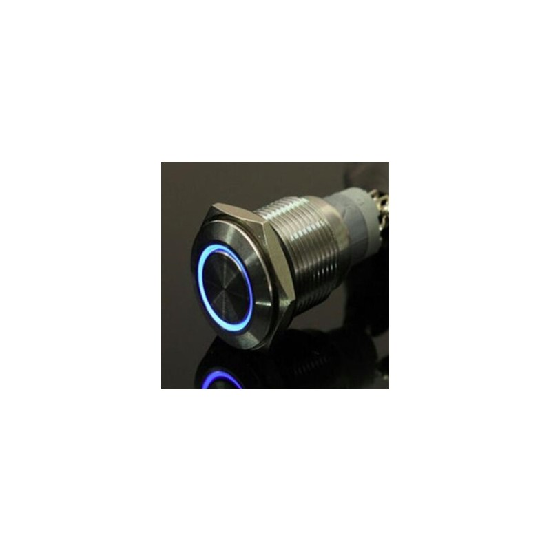 12V 19mm Momentary Push Button Waterproof Switch