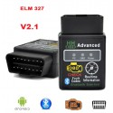 OBDII OBD2 Bluetooth Car Diagnostic ELM327 ELM 327 Black Led