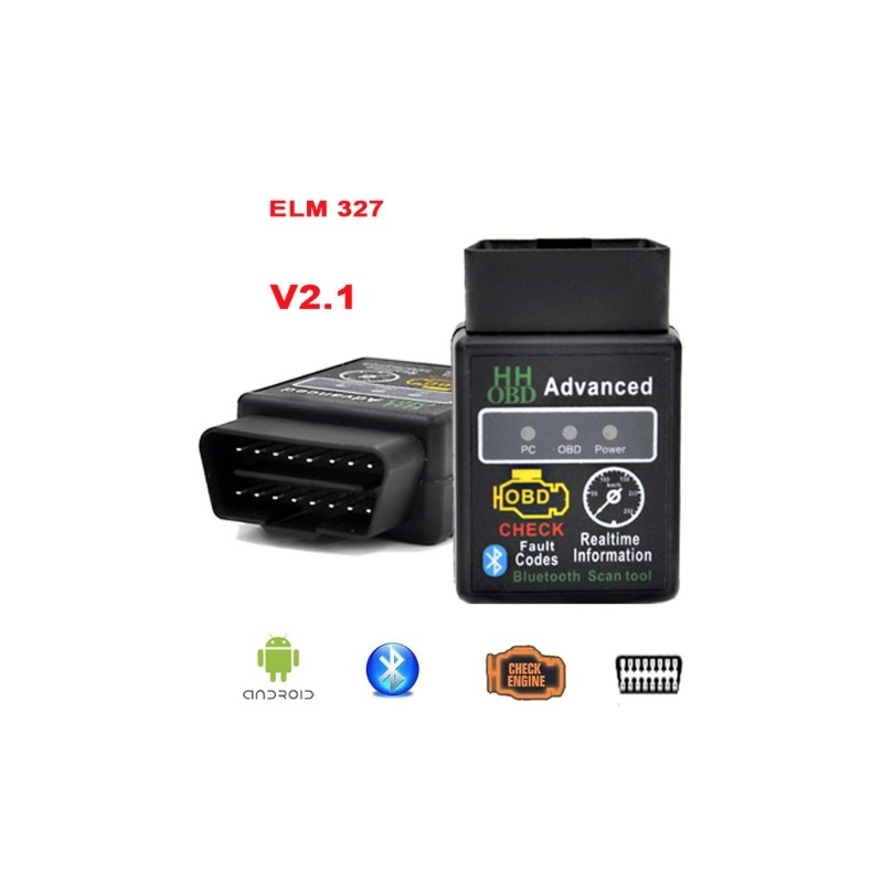 OBDII OBD2 Bluetooth V2.1 Auto Diagnose ELM327 ELM 327 Led