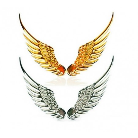 3D metal wings - car / motorcycle sticker