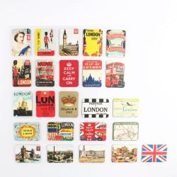 Ensemble d'Aimants pour Réfrigérateur Style Britannique 24 pièces