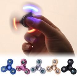 Fidget de dedo con luz led - spinner de mano de aluminio