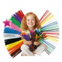 Material Chenille Children Educational Toy Colorful Pipes 100pcs