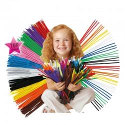 Materiałowe Kordonki Dziecięca Edukacyjna Zabawka Kolorowe Rurki 100szt
