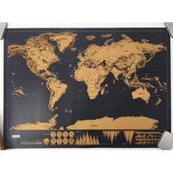 Drop verzending Deluxe blow Map Gepersonaliseerde Wereldkaart Mini Folie Layer Coating Poster muurst