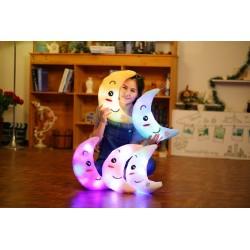 Kolorowy Księżyc Świecący LED Pluszowa Poduszka Zabawka