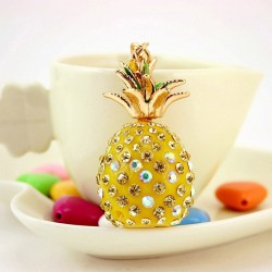 Kristallen ananas sleutelhanger