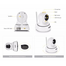 Wi-Fi Wireless Mini 720P Night Vision CCTV IP Camera Baby Monitor