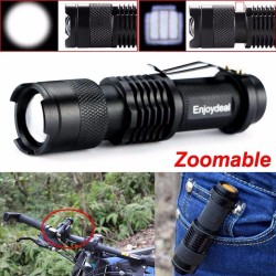 Mini 2000Lm Jasna CREE Q5 LED Regulowany Zoom Focus Latarka