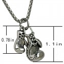 Stainless Steel Boxing Glove Pendant Men's Necklace