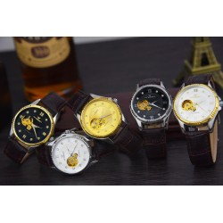 Skeleton Design Automatic Mechanical Waterproof Men's Watch