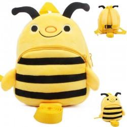 3D pszczółka - chodzik - plecak z zabezpieczeniem przed zgubieniem - torba szkolna z paskiem