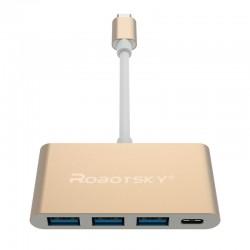 Robotsky UBS 3 Type C Naar USB 3 HUB Converter Super Speed OTG Adapter Kabel  