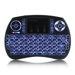 iPazzPort Portable 24Ghz Wireless Mini Keyboard Touchpad Handheld Backlit for Android for Google TV
