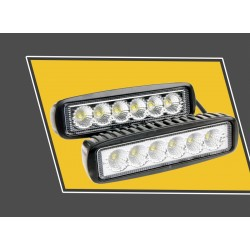 6cali 18W LED Światło Robocze dla Indykatora Motocykla Łodzi Samochodu 4x4 SUV ATV Reflektor Punkt 12V 2szt