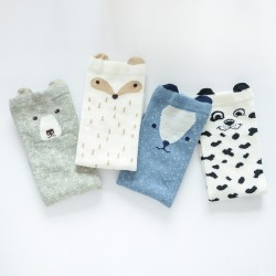 Calcetines con Animales 3D para Niños 4 pares
