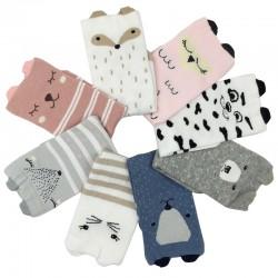 Jungen Mädchen 3D Tiere Warme Kinder Socken 4pair