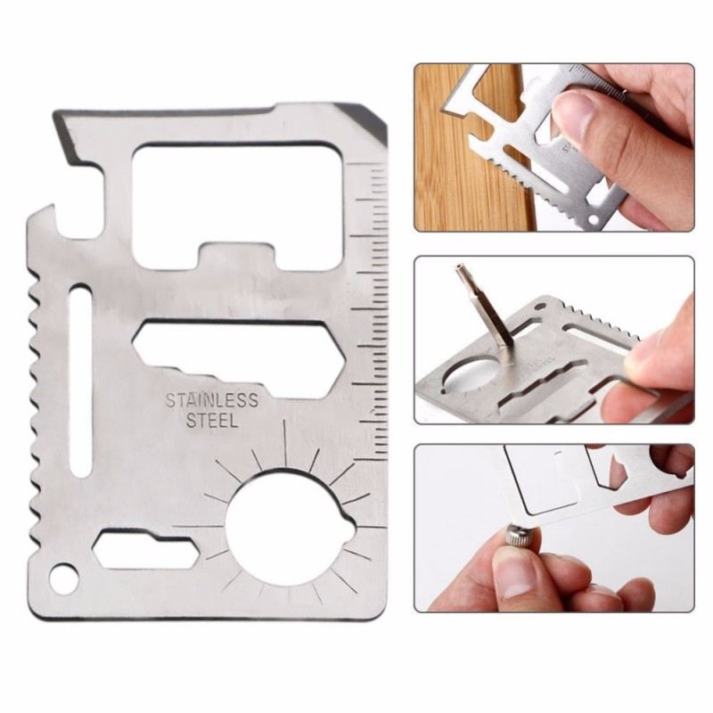 11 in 1 Multifunction Outdoor Hunting Survival Camping Credit Card Knife