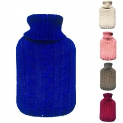 2000ml Filled With Knit Hot Water Bottle Knit Flannel Bags Super Soft Knitting Water Flannel bags co