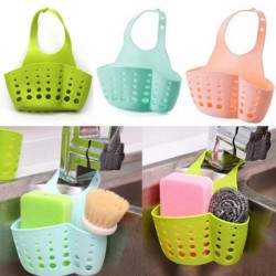 Kitchen Bathroom Hanging Drain Basket Bag Storage Sink Holder